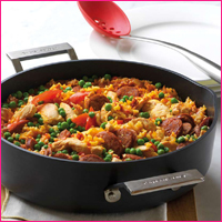 Cook up paella at your cooking party!